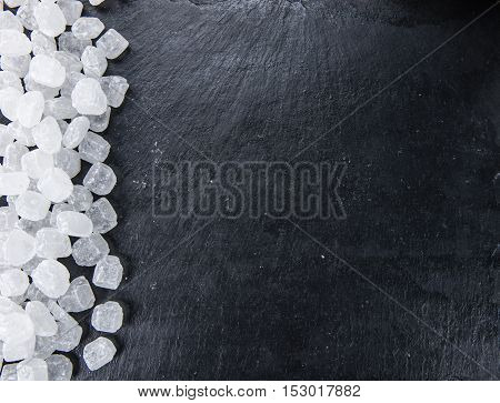 White Rock Candy On A Slate Slab