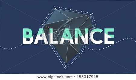 Balance Word Graphic Illustration Concept