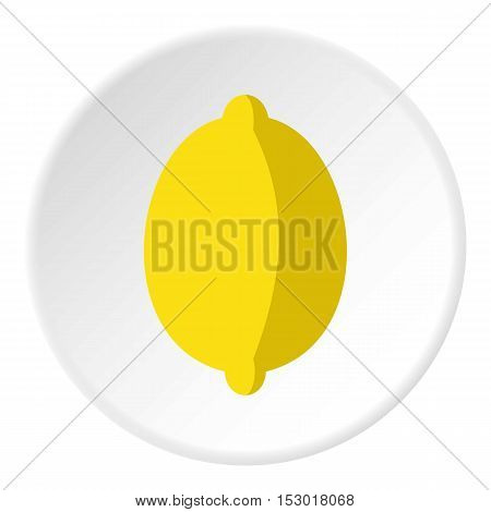 Lemon icon. Flat illustration of lemon vector icon for web