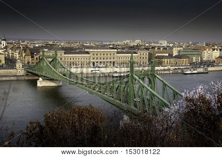 Budapest The Capital Of Hungary Crossed By The Danube River