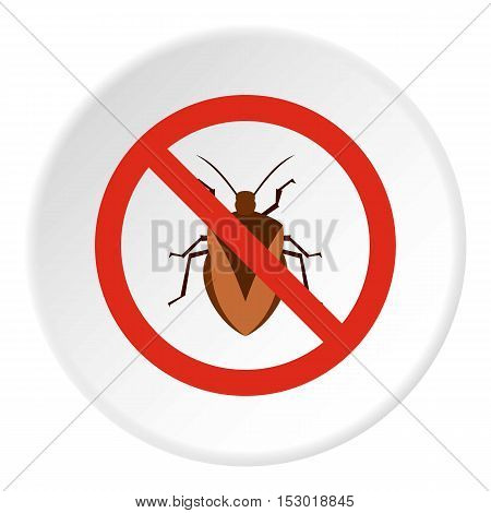 Prohibition sign chinch icon. Flat illustration of prohibition sign chinch vector icon for web