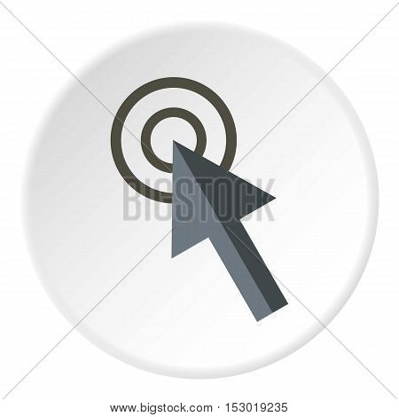 Cursor arrow clicks icon. Flat illustration of cursor arrow clicks vector icon for web