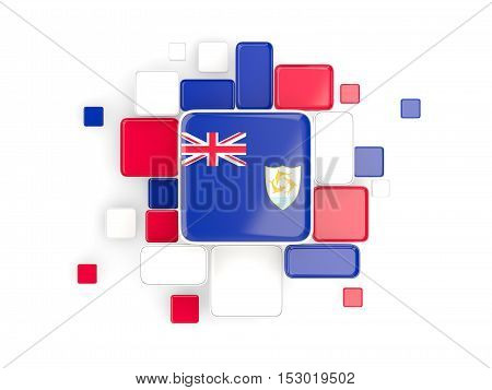 Flag Of Anguilla, Mosaic Background