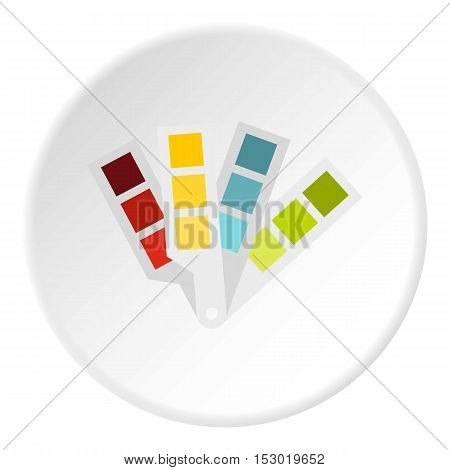 Color palette icon. Flat illustration of color palette vector icon for web