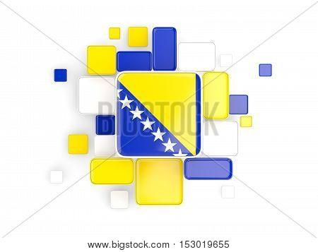 Flag Of Bosnia And Herzegovina, Mosaic Background