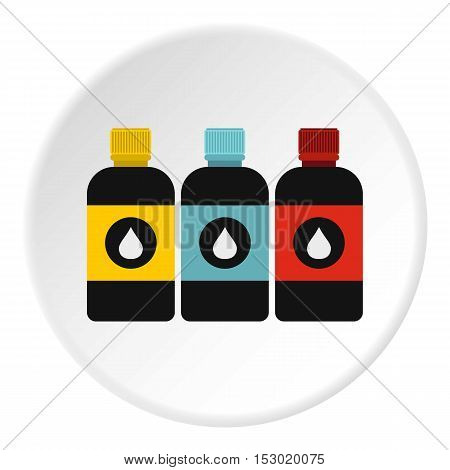 Printer ink icon. Flat illustration of printer ink vector icon for web