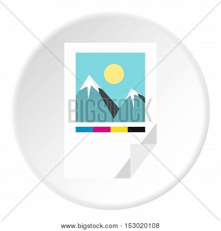 Printed picture icon. Flat illustration of printed picture vector icon for web