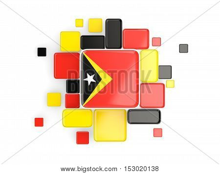 Flag Of East Timor, Mosaic Background