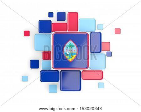 Flag Of Guam, Mosaic Background