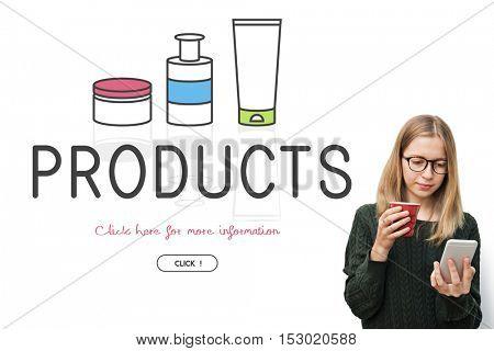 Feminine Beauty Cosmetics Healthcare Products Concept