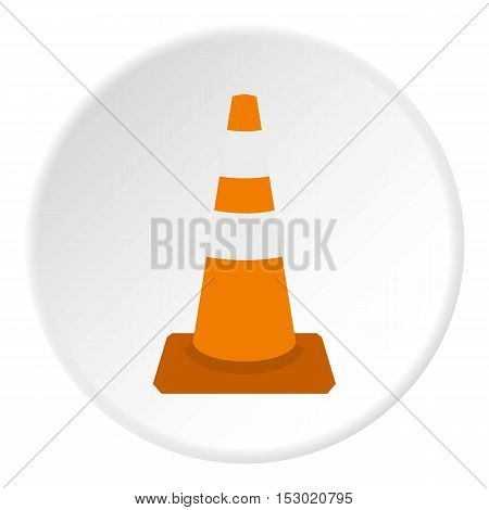 Construction cone icon. Flat illustration of construction cone vector icon for web