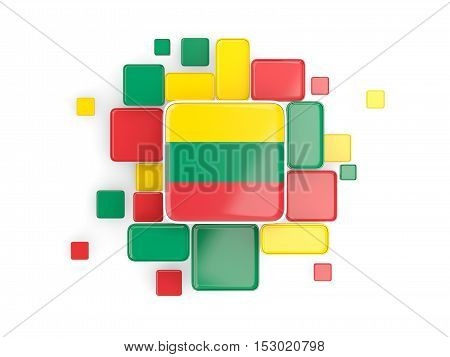 Flag Of Lithuania, Mosaic Background