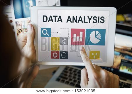 Business Data Analysis Presentation Information Concept