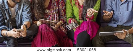 Indian Ethnicity Community Casual Cheerful Concept