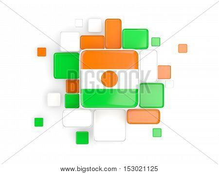Flag Of Niger, Mosaic Background