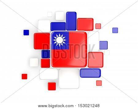 Flag Of Republic Of China, Mosaic Background