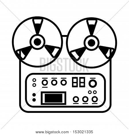 mixer console music electro icon design vector illustration