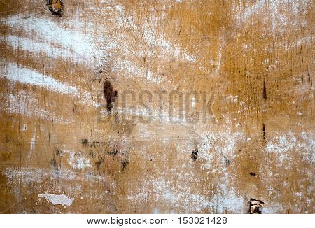 Wood Texture Background with white paint, brown color