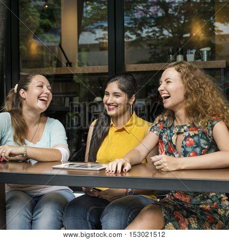 Women Using Digital Device Concept