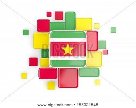 Flag Of Suriname, Mosaic Background