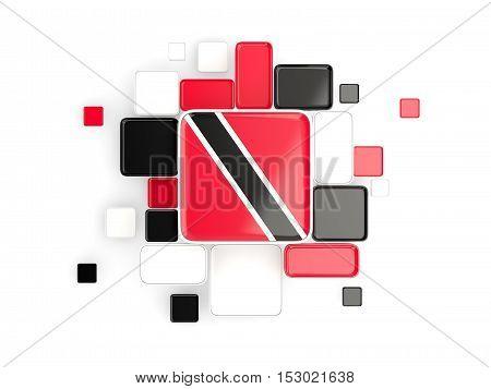 Flag Of Trinidad And Tobago, Mosaic Background