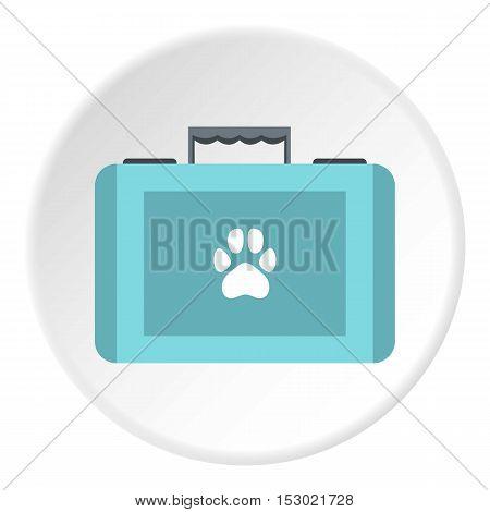 Suitcase for animals icon. Flat illustration of suitcase for animals vector icon for web