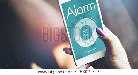 Alarm Clock Time Management Concept