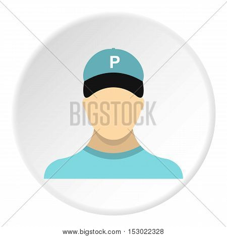Man valet icon. Flat illustration of man valet vector icon for web