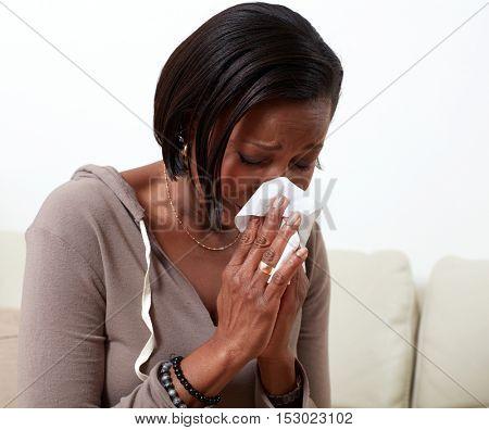 Woman allergy.