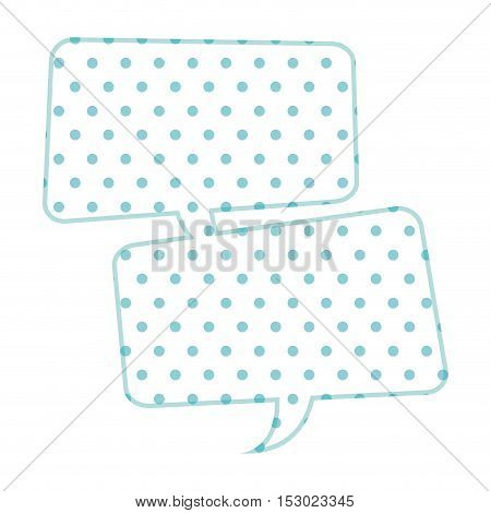 Dotted silhouette united rounded rectangle callout vector illustration