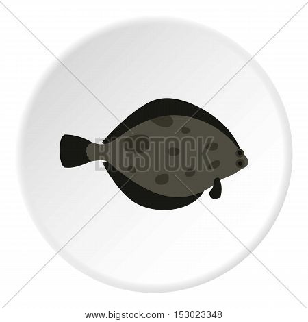 Fish flounder icon. Flat illustration of fish flounder vector icon for web
