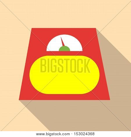Scale icon. Flat illustration of scale vector icon for web