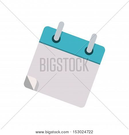 small book for notes with rings vector illustration