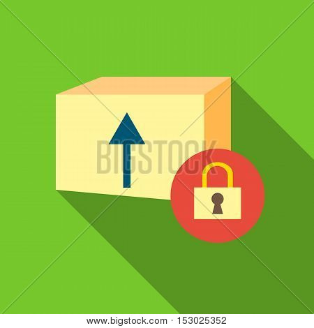 Closed box icon. Flat illustration of closed box vector icon for web