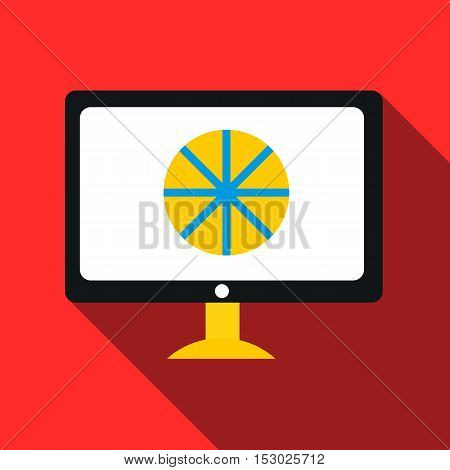 Computer monitor icon. Flat illustration of computer monitor vector icon for web