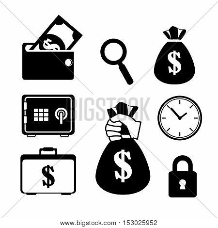 collection save the money icon vector illustration eps 10