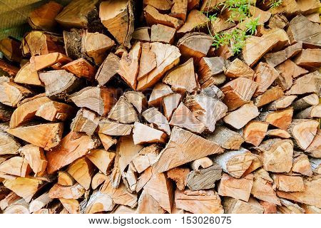 chopped logs for winter fire chopped firewood