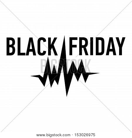 Black friday pulse icon. Simple illustration of black friday pulse vector icon for web