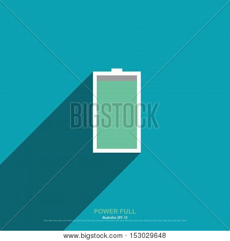 Power full, Vector illustration, abstract graphic design.