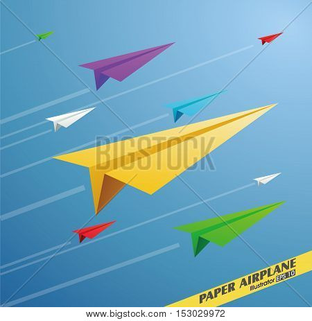 Paper Airplane, Business concept, vector illustration,flat style.