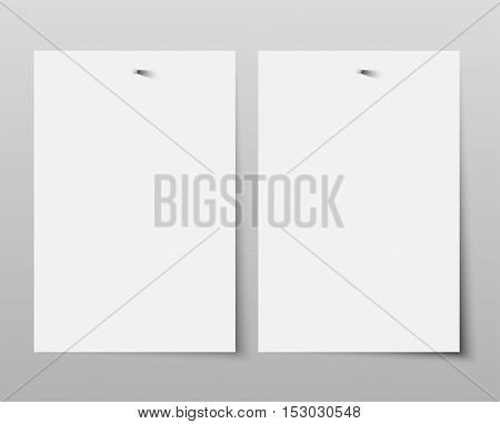 Set of paper rectangle banner template for business design, infographics. Vector illustration eps10. Mock up. Mockup. Web graphic for your design. A4. Two.
