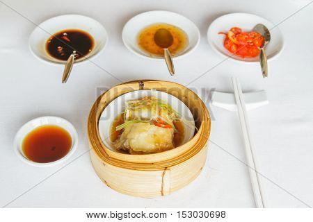 Steamed Sea Bass In Soya Sauce