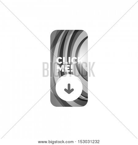 Vector abstract rectangle button template
