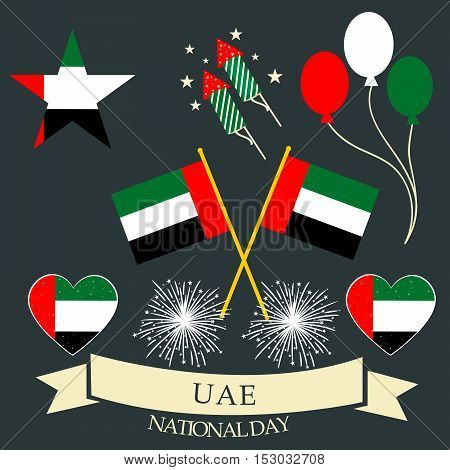 illustration of United Arab Emirates Background for national day.