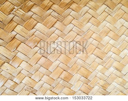 light brown weave sedge mat background and texture