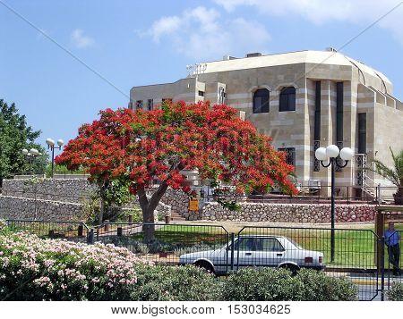 Synagogue building near Wolfson Park of Ramat Gan Israel June 24 2004