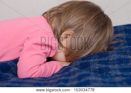 Little Child Hide Her Face