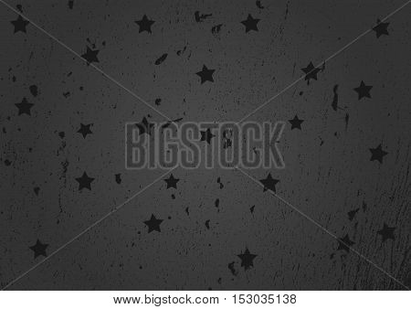 Dark background with stars. Grunge. Rectangular. Abstract.