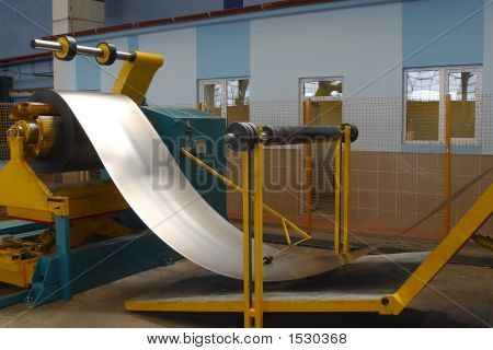 Roll Of Steel Sheet In A Machine