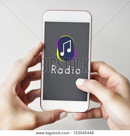 Music Note Entertainment Audio Graphic Concept